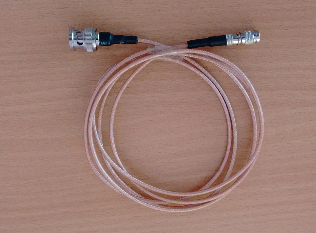 1.0/2.3 DIN to BNC Male Connectors with RG 179